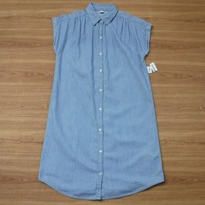 Old Navy Cap Sleeve Button Up Jean Dress ~NWT~